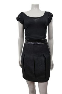 A|X Armani Exchange Pleated Side Skirt Black