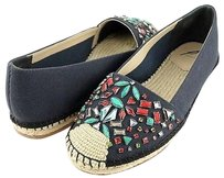 B Brian Atwood Hardesty Navy Multi-Color Flats