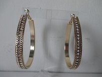 Baby Phat Baby Phat Gold Crystal Oval Hoop Earrings Lot Of