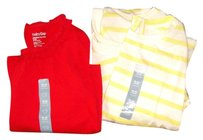 babyGap Ruffle Striped 100% Cotton Machine Washable T Shirt Red