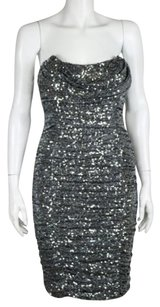 Badgley Mischka Collection Womens Sequin Above Knee Sheath Dress