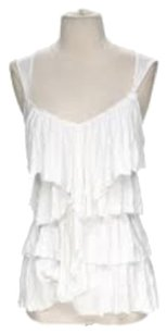 Bailey 44 Tiered Ruffle Top White