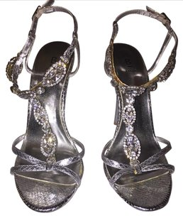 Bakers Rhinestone Formal Silver Sandals