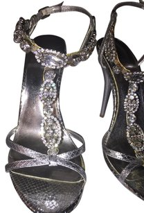 Bakers Rhinestone Silver Sandals