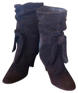 Bakers Suede Leather Mid-calf Brown Boots