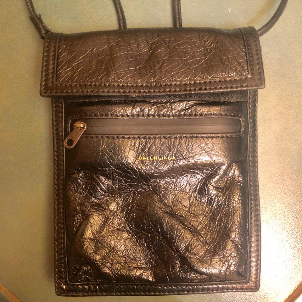 Pack Black Arena Bag Balenciaga dragon Fanny Pouch G Creased Cross Leather Body Pouch wEnpCq04