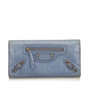 Balenciaga Blue,leather,long Wallets,others,6bbgco005