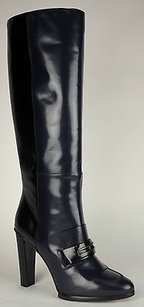 Balenciaga Leather Black & Blue Boots
