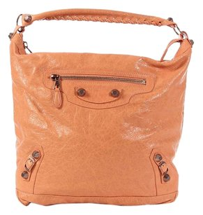 Balenciaga Peach Bg.k0315.06 2012 Rggh Hobo Bag
