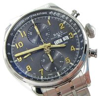 Ball Ball Trainmaster Pulsemeter Ii Day Date Gray Dial Watch Cm3038d-sj-gy