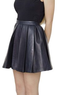 Balmain Dark Navy Mini Skirt Blue