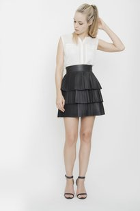 Balmain Pleated Skirt Black