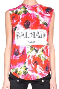 Balmain Top red Floral