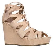 Bamboo Beige Wedges