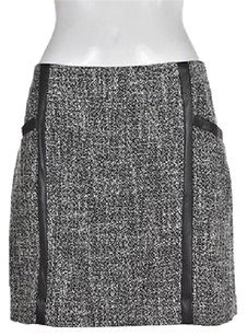 Banana Republic Womens Black A Line Above Knee Textured Skirt Multi-Color