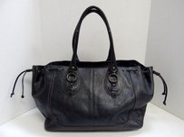 Banana Republic Leather Tote in Black