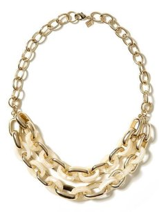 Banana Republic Banana Republic Cream Tortoise Love Link Necklace