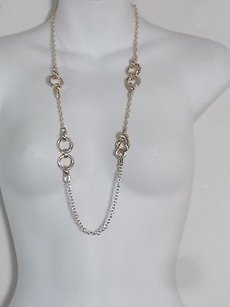Banana Republic Banana Republic Gold Knotted Layering Necklace