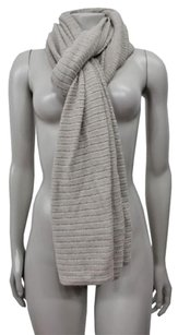 Banana Republic Banana Republic Taupe Gold Ribbed Knit Scarf One