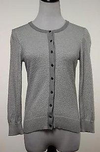 Banana Republic Women Striped Cardigan Xsmall 34 Sleeve Silk To Sweater