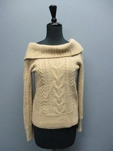 Banana Republic Long Sleeves Cable Knit Cowl Neck Sma9967 Sweater