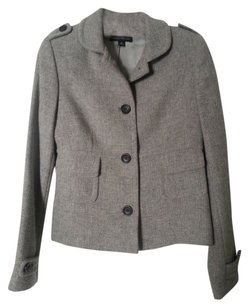 Banana Republic Light Gray Tweed Wool Blazer
