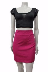 Banana Republic Stretch Ponte Mini Skirt Raspberry
