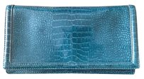 Banana Republic Patent Leather Turquoise Clutch