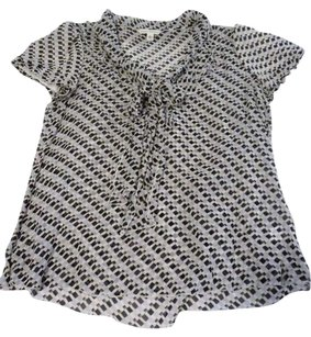 Banana Republic Top Black/White/Gray
