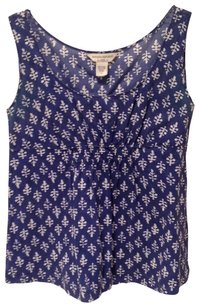 Banana Republic Top blue and cream