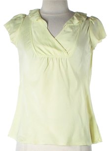 Banana Republic Silk Pettite Top Yellow
