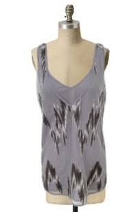 Banana Republic Sheer Mesh Overlay Sequin Bow Back Top Lilac