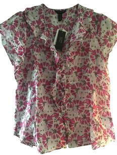 Banana Republic Top Pink / White / Gray