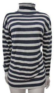 Banana Republic Cashmere Cotton Neck Striped Sweater