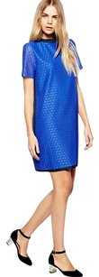 Band of Outsiders short dress blue Lace Shift on Tradesy