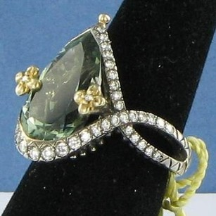 Barbara Bixby Barbara Bixby Couture Mint Quartz Ring 0.57cts Diamond 18k 925