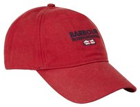 Barbour Mens BARBOUR Waxed Cotton Antler Red Sports Cap