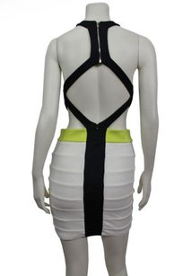 Bardot White Black Racer Bandage Dress