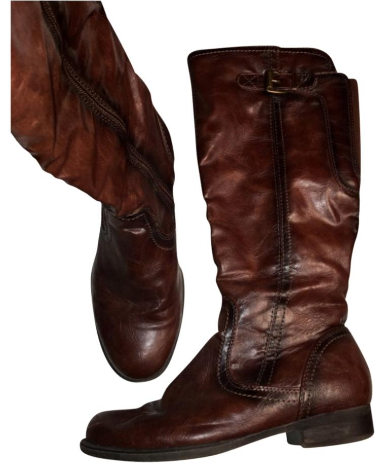 bare traps brown boots booties size us 7 regular m b