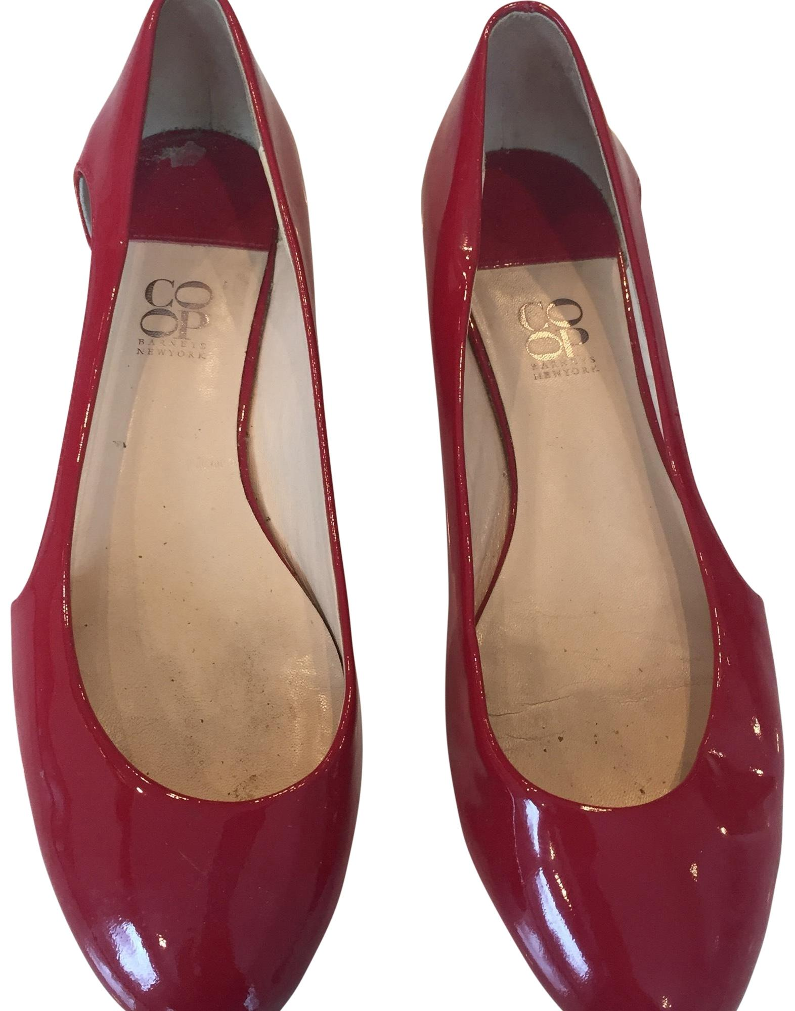 98bf0756075d Barneys Co-Op Red Patent Patent Patent Leather Flats Size EU 37.5 (Approx.