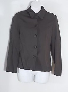 Barneys New York Barneys York Grey Silk Cotton Blazer 0
