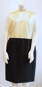 Barneys New York short dress Yellow Black Silk Wool Sleeveless Cocktail on Tradesy