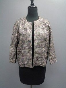 Barry Bricken Woven Cropped Sm1968 Black Pink Yellow Jacket