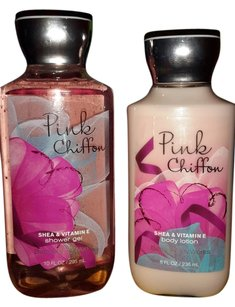 Bath and Body Works FREE SHIPPING Bath and Body Works Set PINK CHIFFON Shower Gel & Lotion