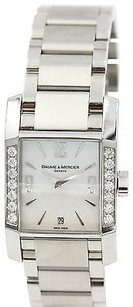 Baume & Mercier Ladies Diamond Baume Mercier Diamant Stainless Steel Quartz Ref. 65516