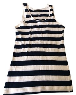 BCBGMAXAZRIA Top Navy And White