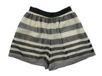 BCBGeneration Bcbg Sparkle Striped Print Shorts beige