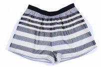 BCBGeneration Bcbg Striped Sparkle Mini/Short Shorts white gray black