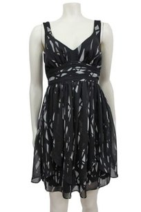 BCBGeneration short dress black Gray Bcbg Leaf Skirt on Tradesy