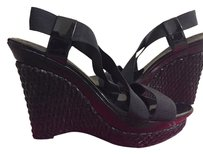 BCBGMAXAZRIA Bcbg Woven Wedge Straps Black Wedges